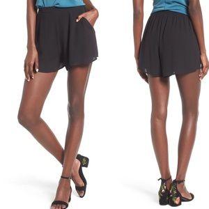 Lush Woven High Waist Pocket Black Shorts sz S